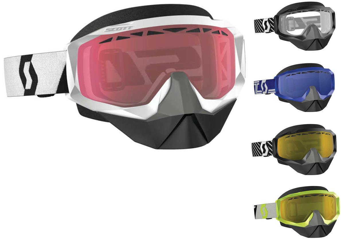 Scott USA Hustle X Snowcross Goggle Blue//White W//Sky Blue Lens